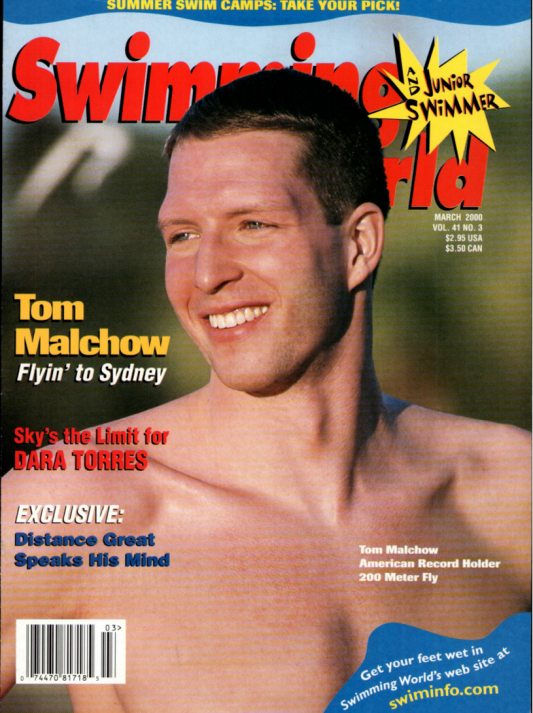 Swimming World Magazine March 2000 Issue- PDF ONLY - Cover