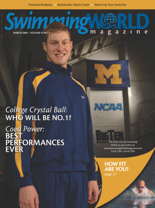 Swimming World Magazine March 2006 Issue- PDF ONLY - Cover