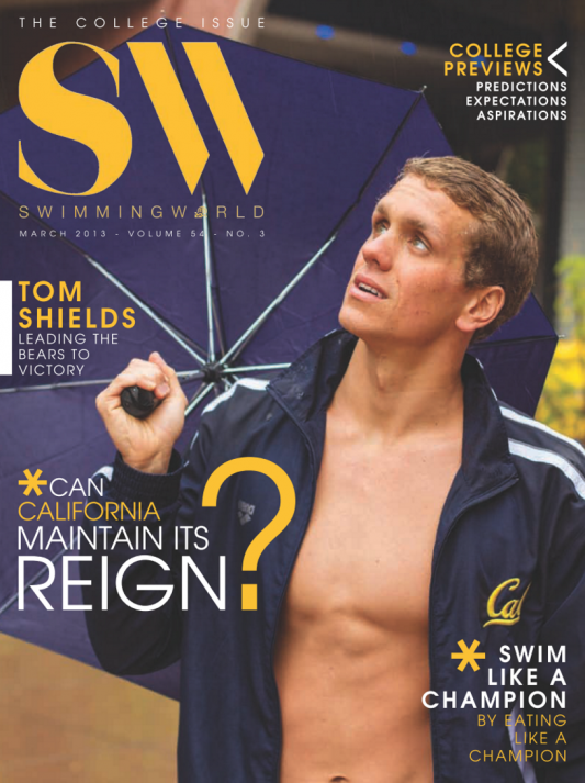 Swimming World Magazine March 2013 Issue- PDF ONLY - Cover