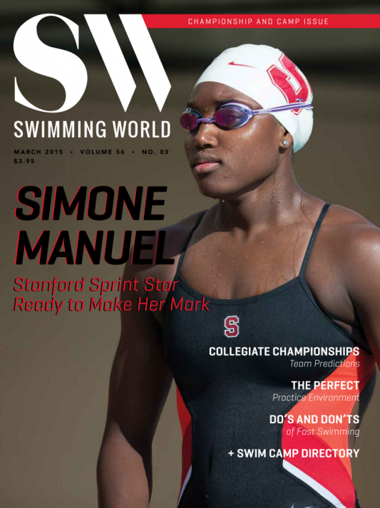Swimming World Magazine March 2015 Issue- PDF ONLY - Cover