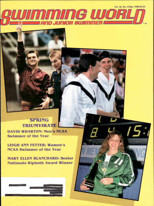Swimming World Magazine May 1989 Issue- PDF ONLY - Cover