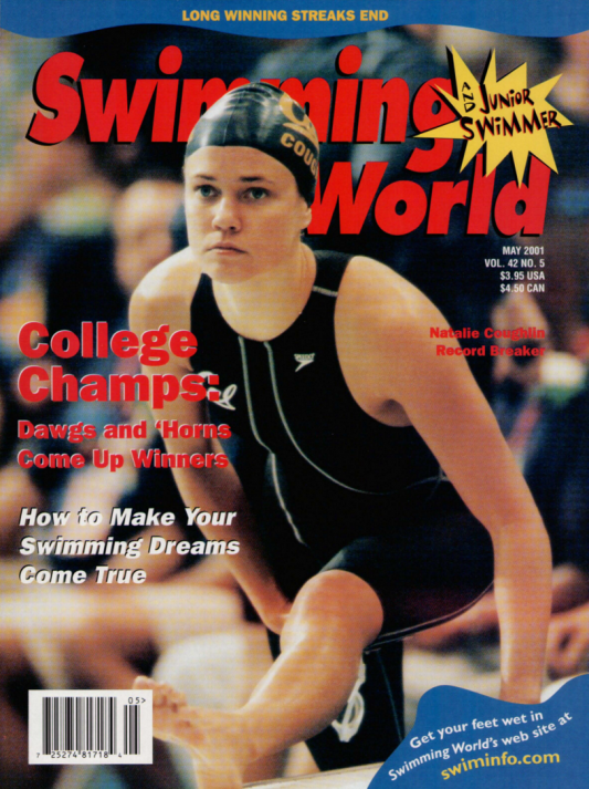 Swimming World Magazine May 2001 Issue- PDF ONLY - Cover