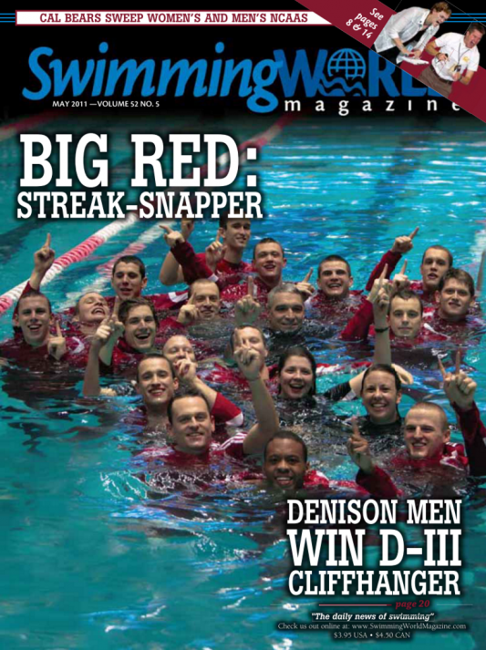Swimming World Magazine May 2011 Issue- PDF ONLY - Cover