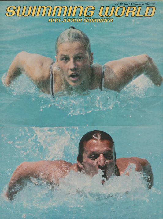 Swimming World Magazine November 1971 Issue- PDF ONLY - Cover