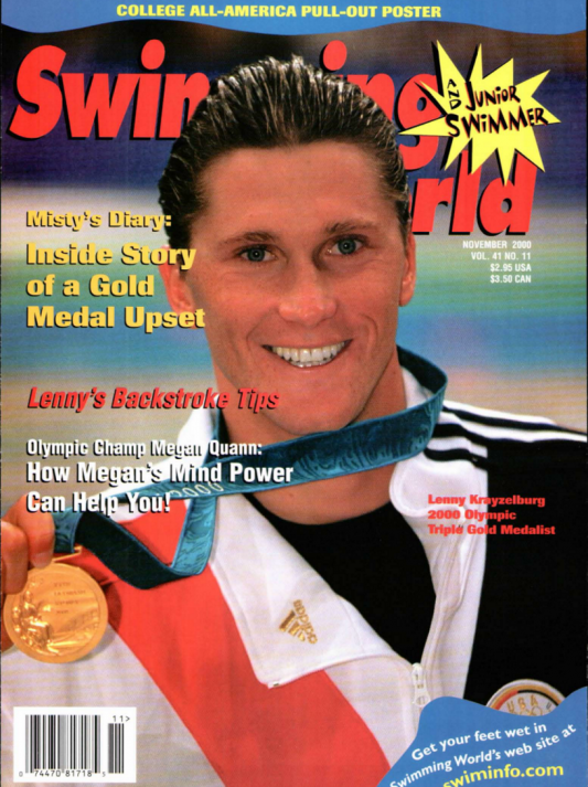 Swimming World Magazine November 2000 Issue- PDF ONLY - Cover