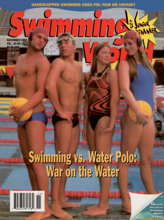Swimming World Magazine November 2002 Issue- PDF ONLY - Cover
