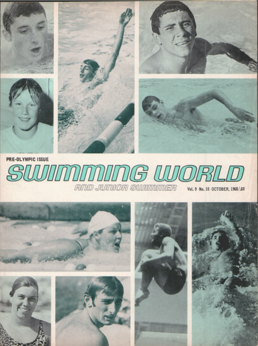Swimming World Magazine October 1968 Issue- PDF ONLY - Cover