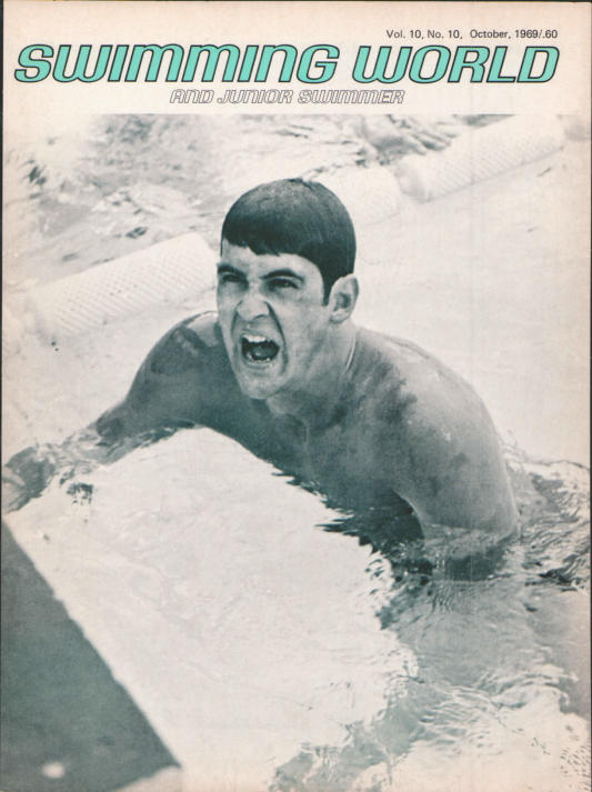 Swimming World Magazine October 1969 Issue- PDF ONLY - Cover