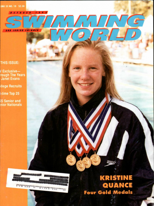 Swimming World Magazine October 1992 Issue- PDF ONLY - Cover