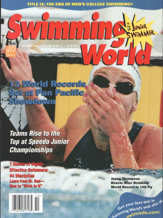 Swimming World Magazine October 1999 Issue- PDF ONLY - Cover