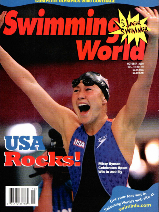 Swimming World Magazine October 2000 Issue- PDF ONLY - Cover