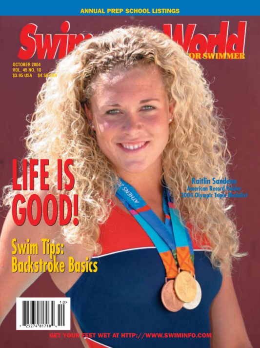 Swimming World Magazine October 2004 Issue- PDF ONLY - Cover