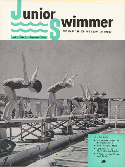 Swimming World Magazine September 1960 Issue- PDF ONLY - Cover