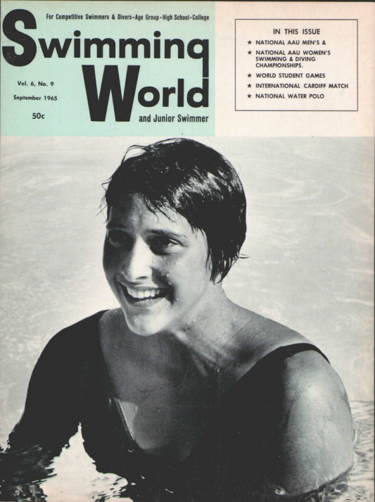 Swimming World Magazine September 1965 Issue- PDF ONLY - Cover