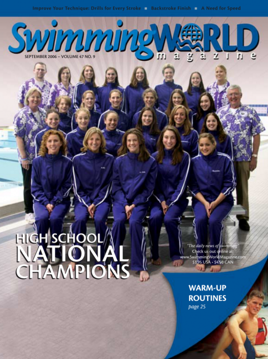 Swimming World Magazine September 2006 Issue- PDF ONLY - Cover