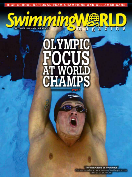 Swimming World Magazine September 2011 Issue- PDF ONLY - Cover