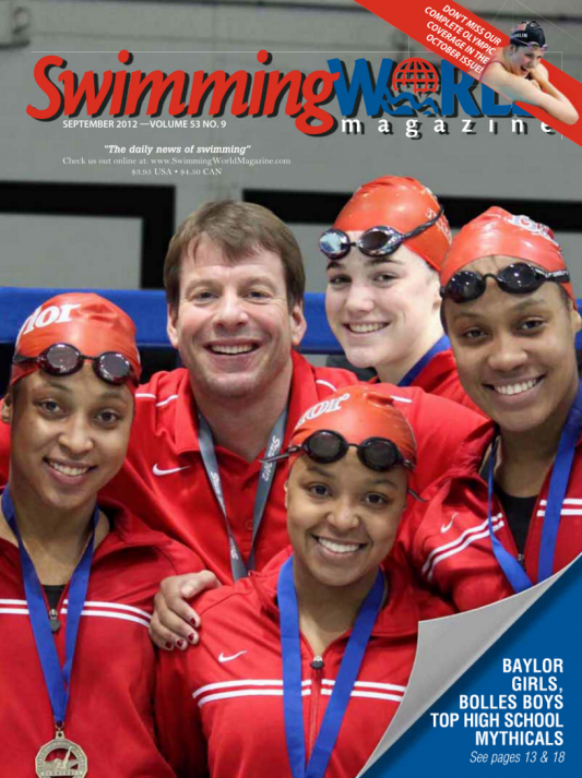 Swimming World Magazine September 2012 Issue- PDF ONLY - Cover