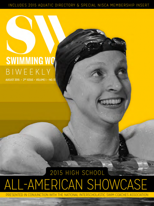 Swimming World Biweekly: Revisiting 2014-2015 High School All-Americans - Cover