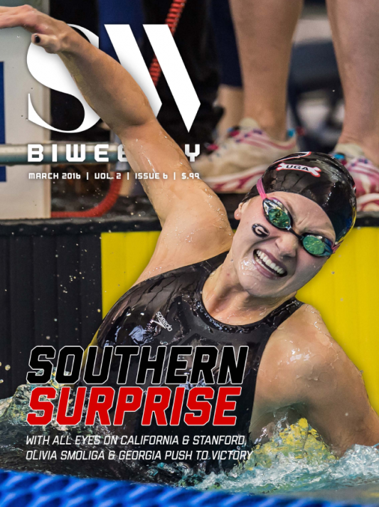 Swimming World Biweekly: Southern Surprise - Cover