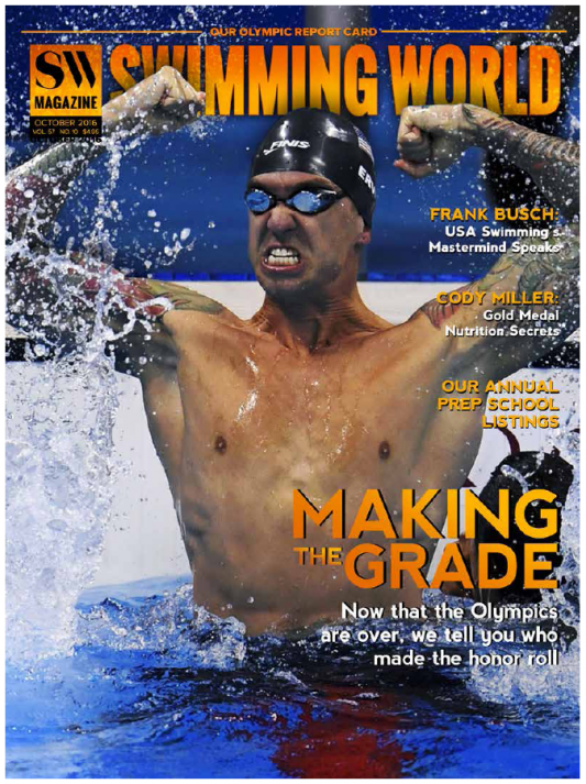Swimming World Magazine October 2016 Issue--PDF ONLY - Cover