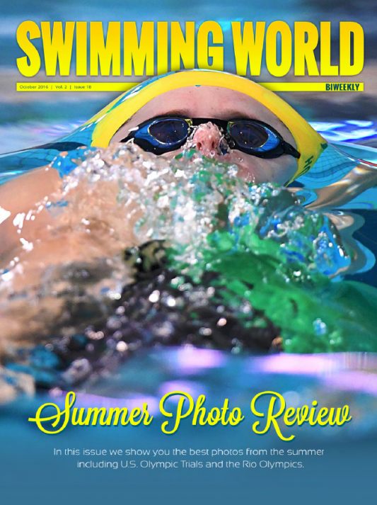 Swimming World Biweekly: 2016 Summer Photo Review - Cover