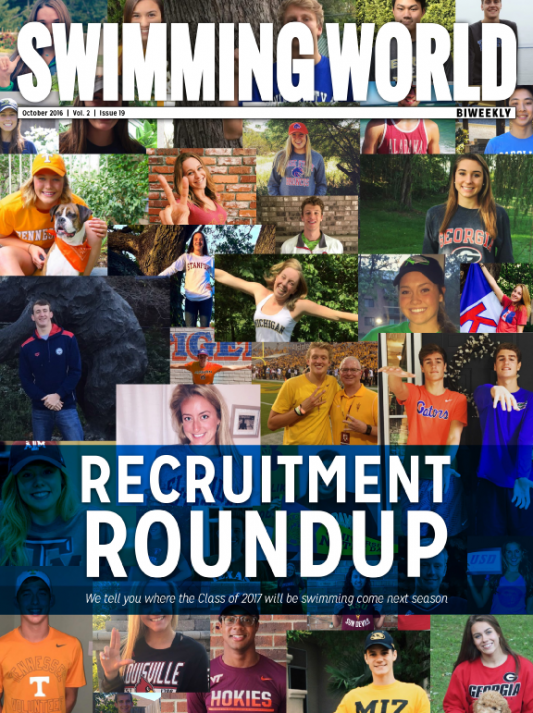 Swimming World Biweekly: Recruitment Roundup - Cover