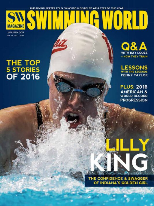 Swimming World Magazine January 2017 Issue--PDF ONLY - Cover