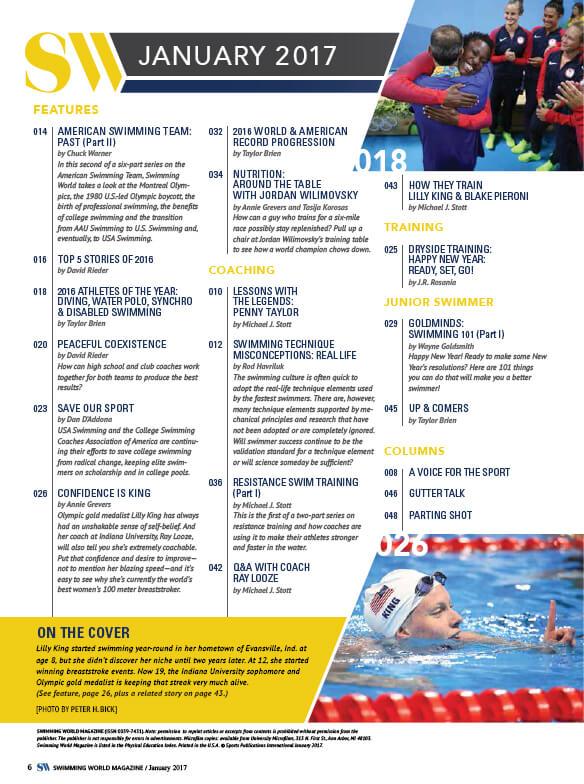 Swimming World Magazine January 2017 Issue–PDF ONLY