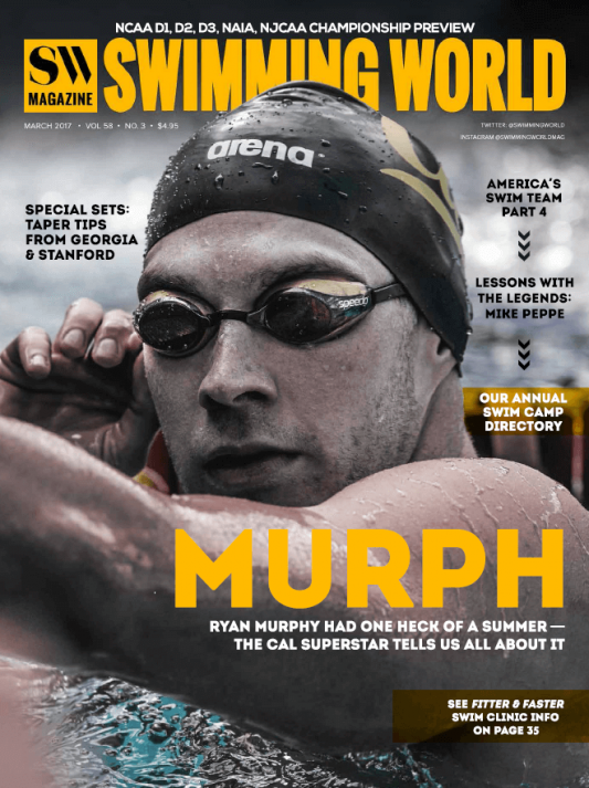 Swimming World Magazine March 2017 Issue--PDF ONLY - Cover