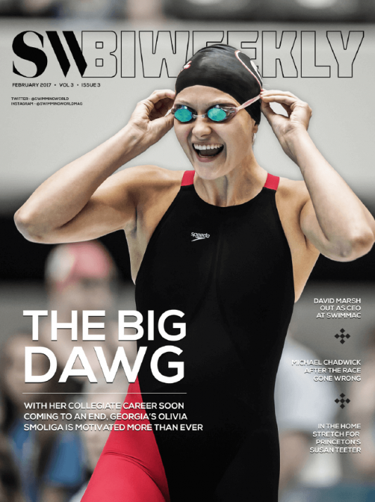 Swimming World Biweekly: The Big Dawg - Cover