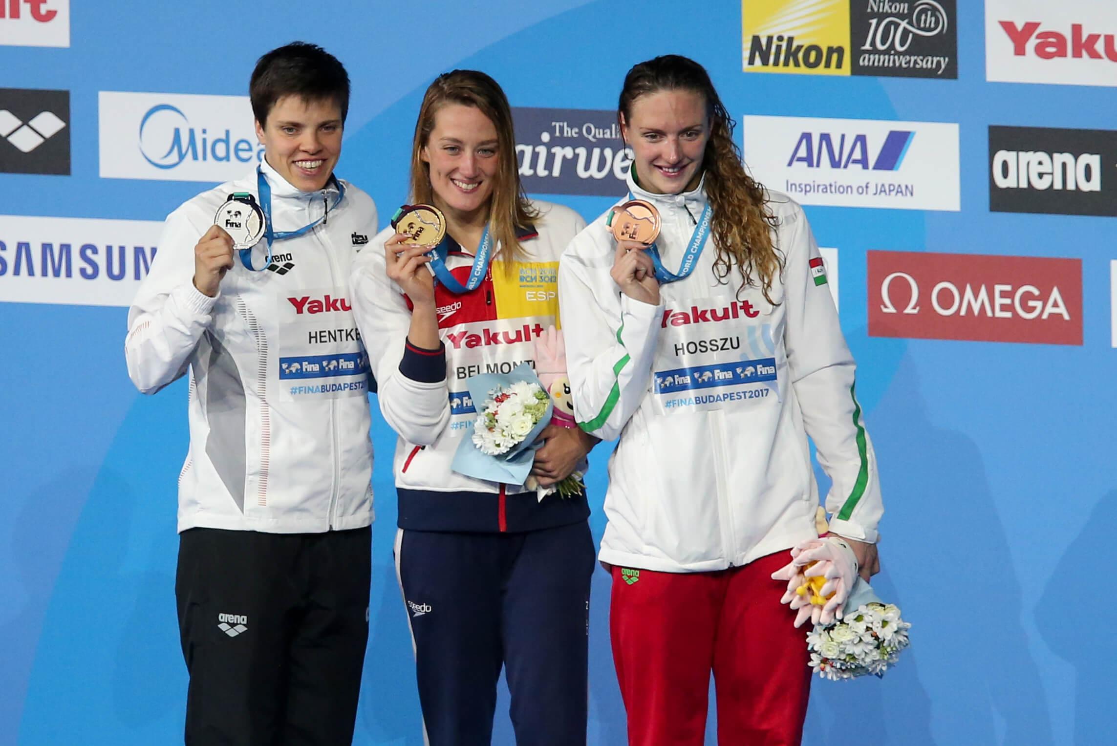 Франциска-hentke-гер-Мирея Белмонте--ESP-Катинка-Хосзу-хунските-медали на 2017 г. свята шампиони