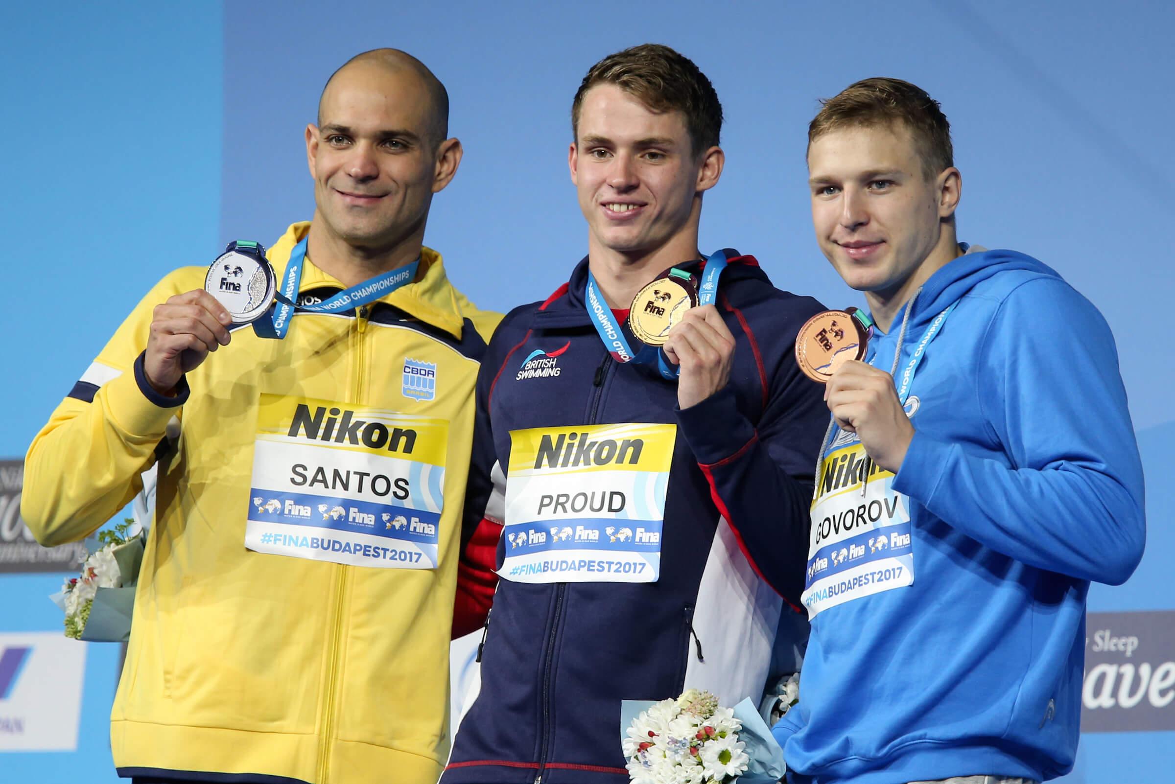 Никълъс-Сантос-Бен-горд-Андрий-govorov-50-лети-на подиума на 2017 г. свята шампиони