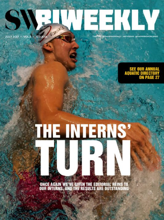 Swimming World Biweekly: The Interns' Turn - Cover