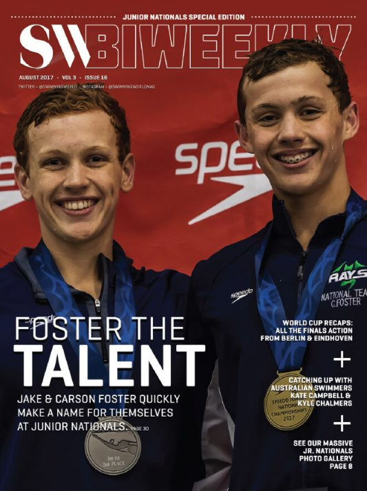 Swimming World Biweekly: Foster The Talent - Cover