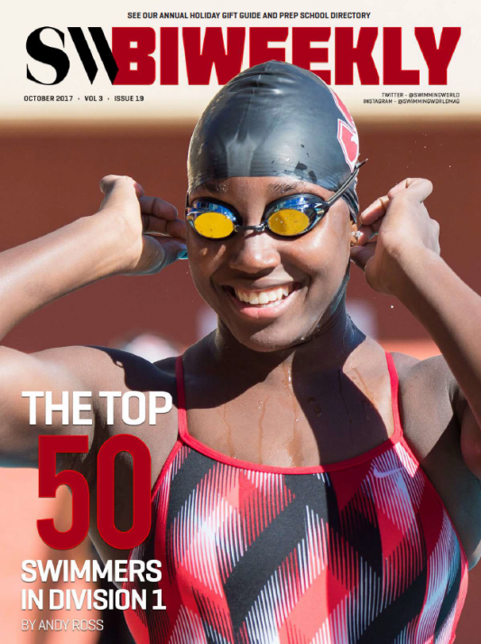 Swimming World Biweekly: Top 50 NCAA DI Swimmers For 2017-18 Season - Cover