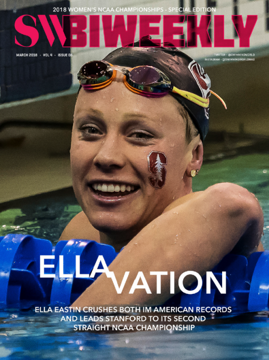 Swimming World Biweekly: Ella Eastin's Elevation - Cover