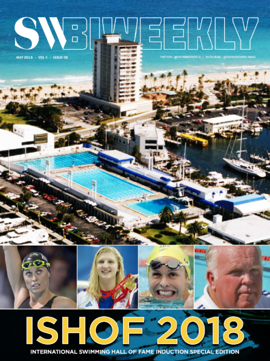 Swimming World Biweekly: Special Issue Dedicated to 2018 ISHOF Awards and Honorees - Cover