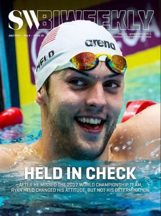 Swimming World Biweekly: Held in Check - Cover