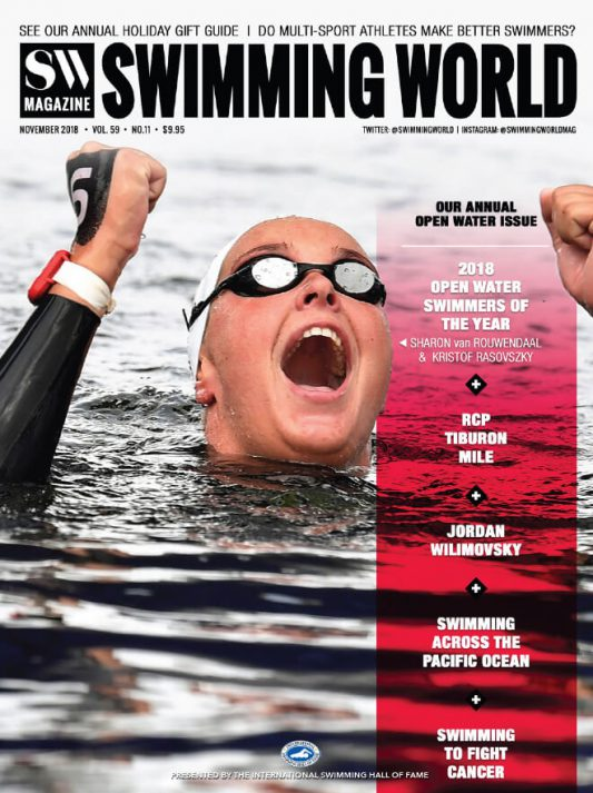 Swimming World Magazine November 2018 Issue--PDF ONLY - Cover