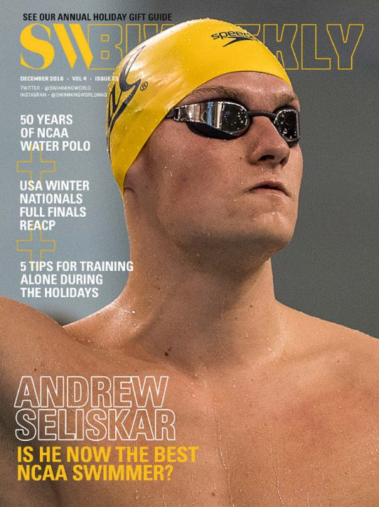 Swimming World Biweekly: Andrew Seliskar - Cover
