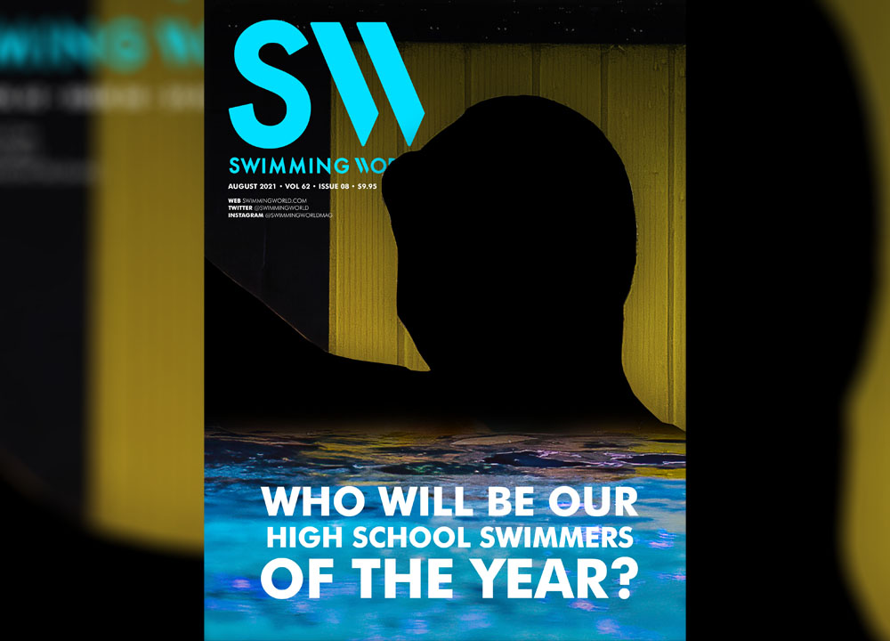Swimming World August 2021 Cover Teaser - Who Will Be Our High School Swimmers of the Year