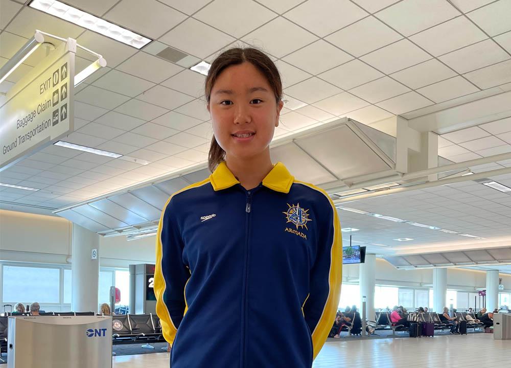 Swimming World July 2021 -- Up and COmers - La Mirada Armada's Kayla Han