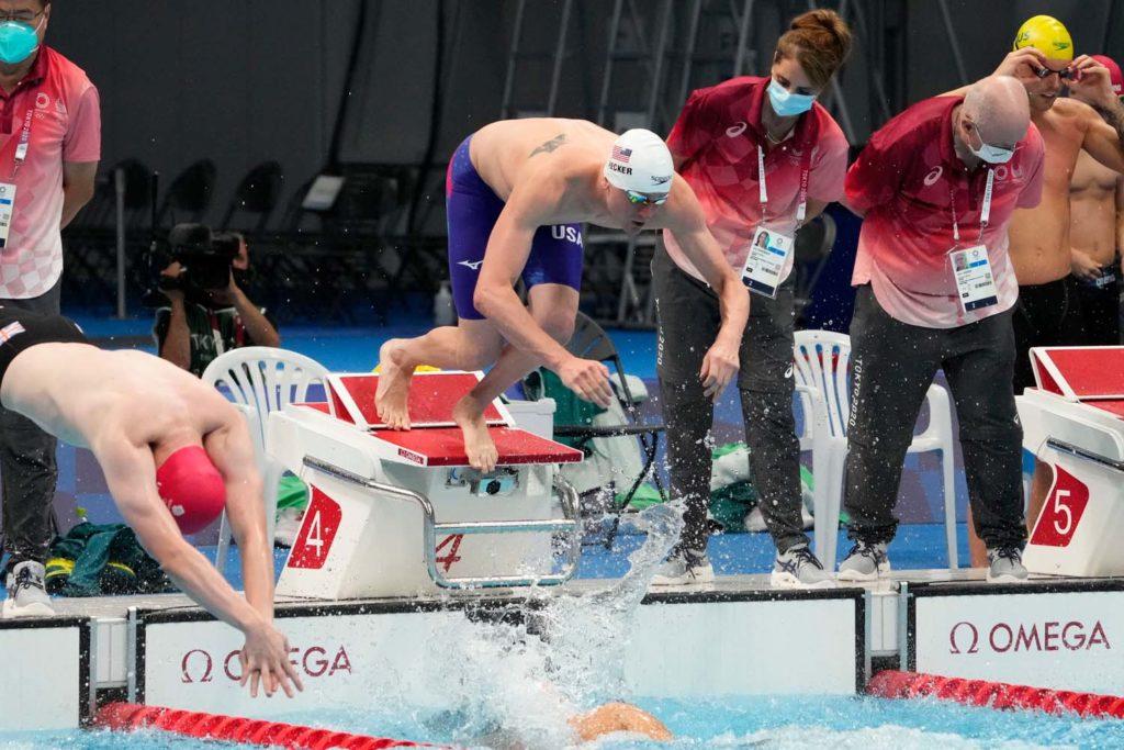 bowe becker, men's 400 freestyle relay, tokyo olympics