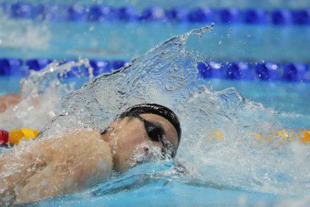 Olympics, Jul 25, 2021; Tokyo, Japan; Katsuhiro Matsumoto (JPN) in the men's 200m freestyle heats during the Tokyo 2020 Olympic Summer Games at Tokyo Aquatics Centre. Mandatory Credit: Rob Schumacher-USA TODAY Sports
