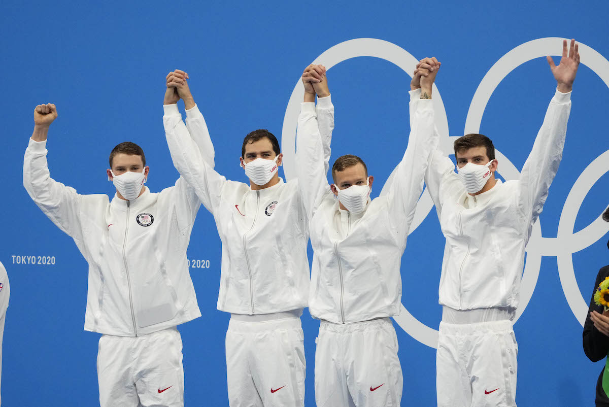 U.S. Men's Medley Relay Turned Near Miss Into Gold To Cap Olympic Games