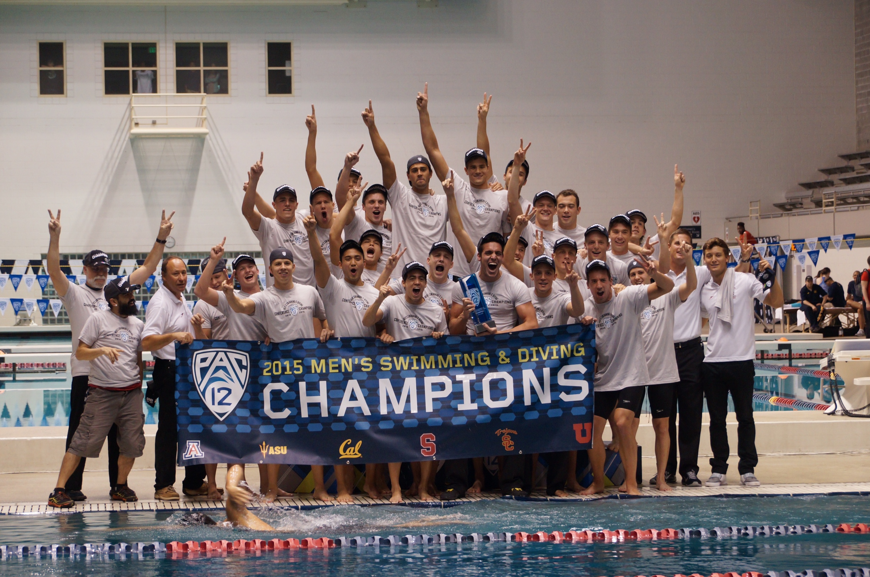USC Southern California swimming 2015 Pac 12 champions