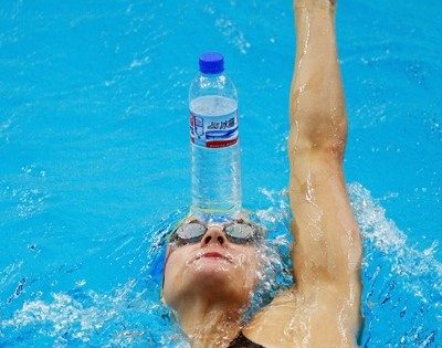 BEIJING - AUGUST 04: Sophie Edington of Australia attends a practice session at the National Aquatics Center at the 2008 Beijing Summer Olympics on August 4, 2008 in Beijing, China. (Photo by Cameron Spencer/Getty Images)